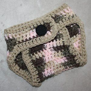 Nwt 0-3 Month Pink Camo Diaper cover